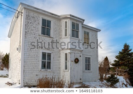 Two storey building painted in white Stock photo © bluering