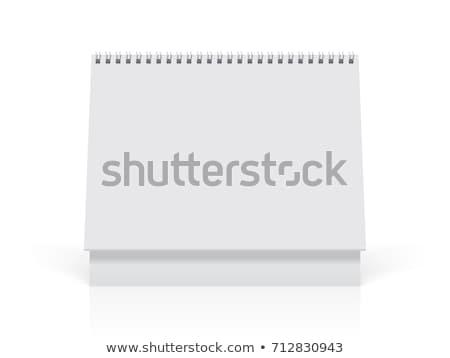 papel · em · branco · secretária · spiralis · calendário · macio · sombras - foto stock © Mediaseller