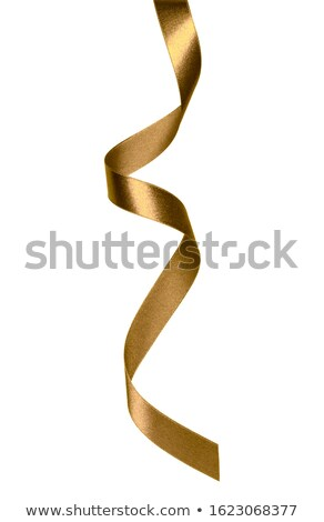 Shiny satin ribbon on white background Stock photo © fresh_5265954