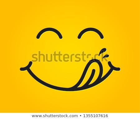 Saboroso língua foto menina baixar cara Foto stock © Fisher