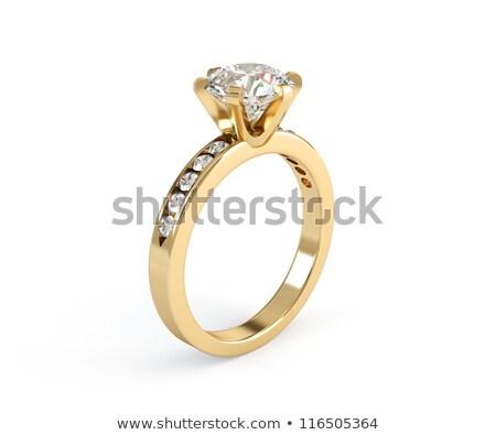 różowy · złota · pierścionek · z · brylantem · polu · miłości · wzrosła - zdjęcia stock © pakete