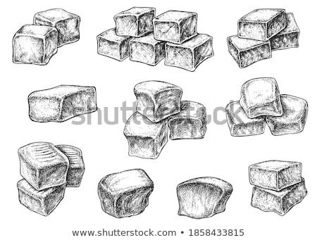 конфеты · куб · Sweet · белом · фоне · коричневый - Сток-фото © digifoodstock