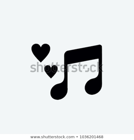 love song icon flat style stock photo © ylivdesign