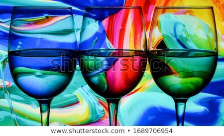 Absztrakt borospoharak formák színes többszörös izolált Stock fotó © user_11397493