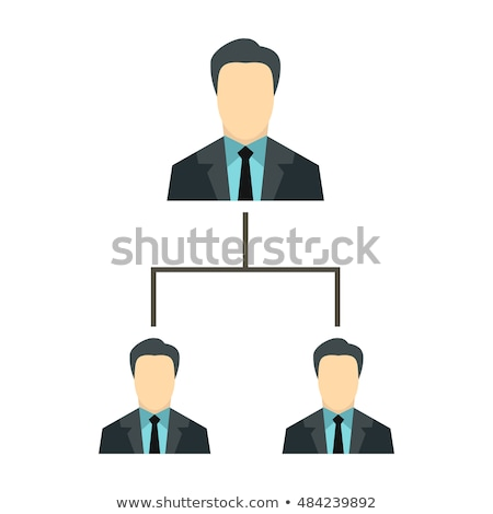 Company structure icon. Personnel management. Boss and subordina Stock photo © popaukropa