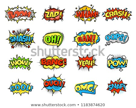 Au komiks słowo pop art retro streszczenie Zdjęcia stock © studiostoks