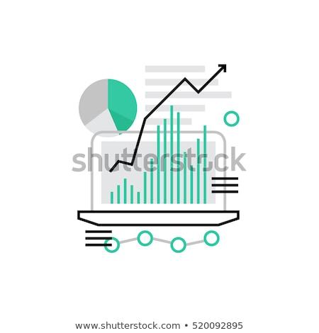 Laptop képernyő weboldal rangsor modern munkahely Stock fotó © tashatuvango