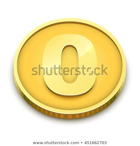 Gold coin with zero nominal vector illustration. Stock photo © tuulijumala