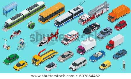 isometric electric trolleybus stock photo © genestro