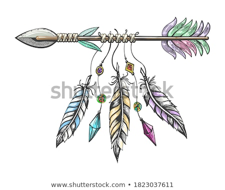 native american with bow and arrow stock photo © ddraw