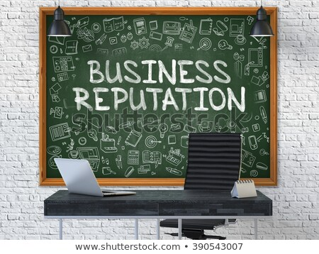 Reputation Management - Hand Drawn on Green Chalkboard. 3D. Stock photo © tashatuvango