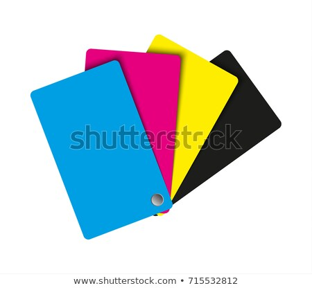 Cmyk palette, abstract sheets of paper in cmyk colors, vector illustration stock photo © kurkalukas