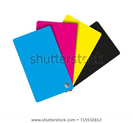 paletta · absztrakt · papír · színek · háttér · kék - stock fotó © kurkalukas