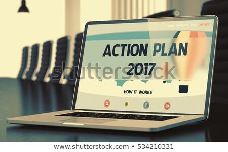 2017 on Laptop in Meeting Room. 3D. Stock photo © tashatuvango