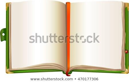 開いた本 · オープン · アイデア · ベクトル · デザイン · 花 - ストックフォト © olena