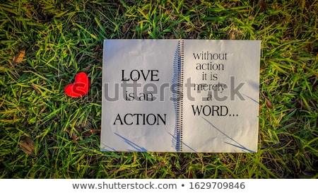 Corazón amor acción icono símbolo poder Foto stock © Olena