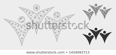 Futuro personas grupo icono estilo gráfico Foto stock © ahasoft