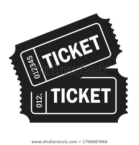 Admit one cinema ticket Stock photo © milsiart