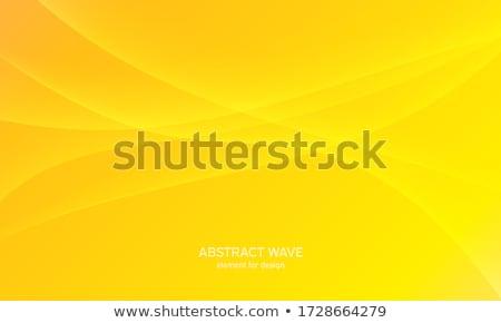 Stock fotó: Absztrakt · citromsárga · hullámos · forma · terv · narancs