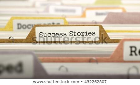 успех папке карт мнение избирательный подход Сток-фото © tashatuvango