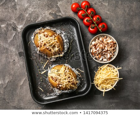 baked stuffed potato stock photo © m-studio