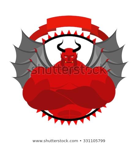 Scary сатана логотип спортивная команда спортивных клуба Сток-фото © popaukropa