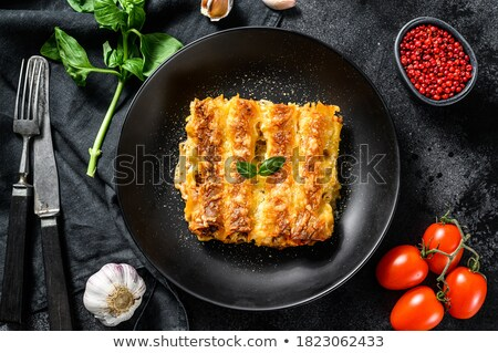 cannelloni with beef and tomato sauce stock photo © m-studio