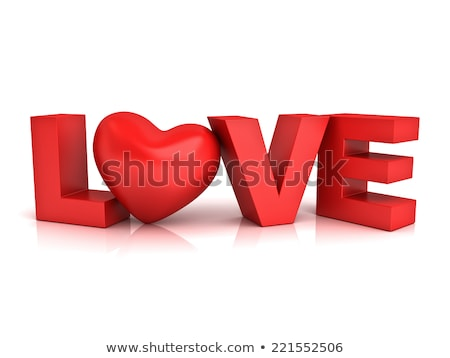word love over background with reflection 3d stock photo © user_11870380