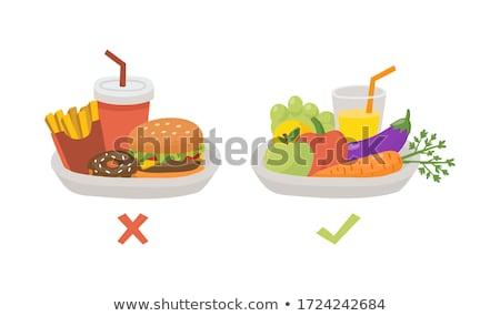 углеводы · питание · пластина · приготовленный · пасты · слово - Сток-фото © lightsource