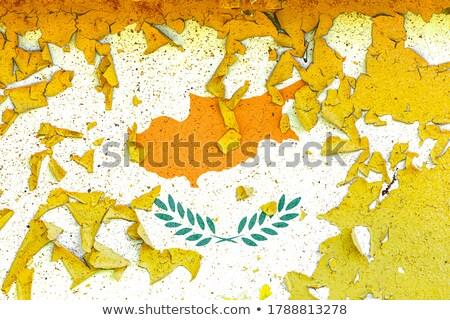 Vierkante grunge vlag Cyprus 3d illustration retro Stockfoto © MikhailMishchenko