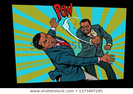 The fight business, a heavy blow. Competition businessmen concep Stock photo © studiostoks