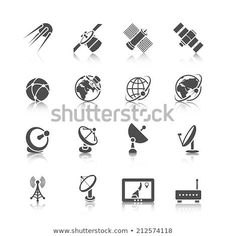 Space technology with satellite dish and earth Stock photo © bluering