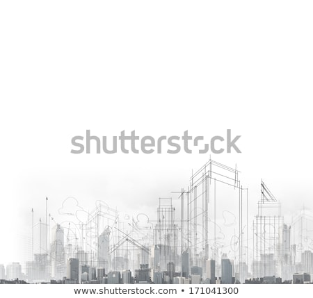 Architect with blue prints in the street Stock photo © IS2
