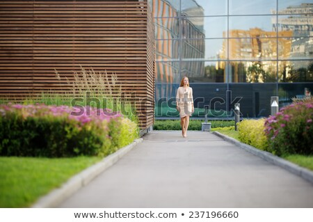 Business people walking in courtyard Stock photo © IS2