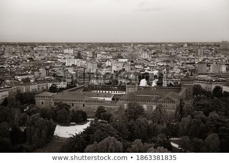 Милан черно белые изображение городского Сток-фото © umbertoleporini