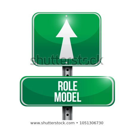 role model street sign illustration design graphic Stock photo © alexmillos