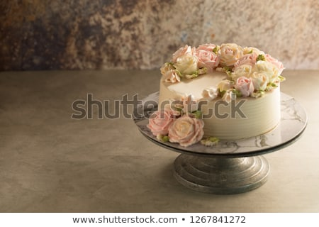 Birthday cake, close up Stock photo © IS2