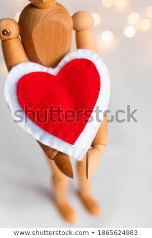 Estatueta vermelho coração branco Foto stock © wavebreak_media