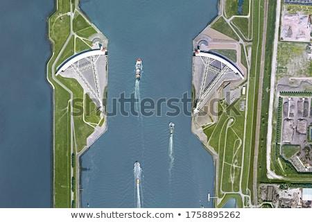 嵐 · サージ · オランダ · ビルド · 水 - ストックフォト © Gertje