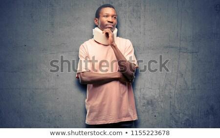 Uomo indossare collo medici sostegno care Foto d'archivio © IS2
