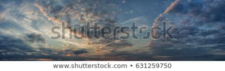 Blue and orange dramatic sky panorama Stock photo © vapi