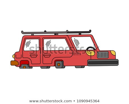 Car on flat tires. Auto does not go. Vector illustration Stock photo © MaryValery