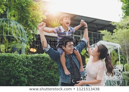 молодые азиатских китайский семьи Открытый ребенка Сток-фото © kenishirotie