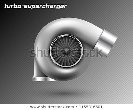 Vector car turbocharger isolated on transparent background. Realistic metal turbine icon. Tuning Stock photo © Iaroslava