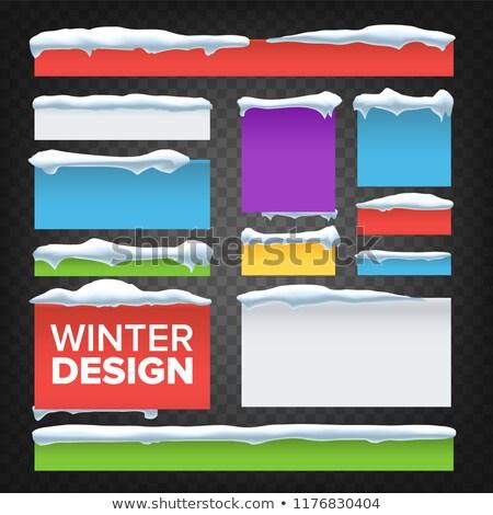 Banner pulsante neve vettore abstract congelato Foto d'archivio © pikepicture