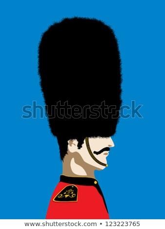 Sylwetka człowiek brytyjski królewski straży ilustracja Zdjęcia stock © lenm