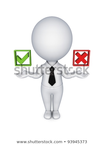 3d small people   checklist and boxes stock photo © anatolym