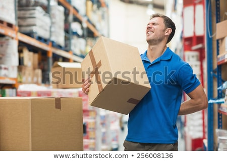 Сток-фото: страдание · картона · коробки · зрелый