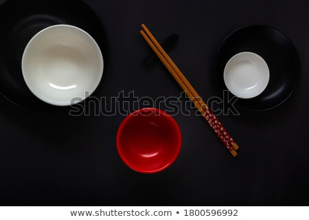 Asian oriental food composition in colorful dishware Stock photo © dash