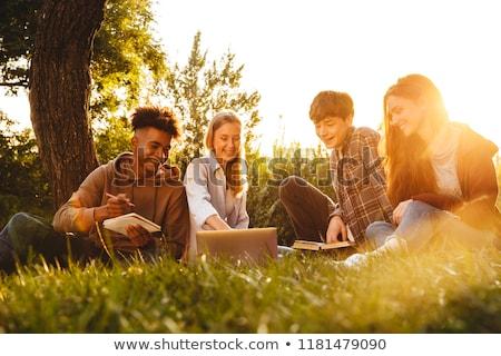 kolegium · studentów · praca · domowa · grupy · książki · książek - zdjęcia stock © deandrobot